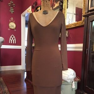 Dresses (2/Layered)/Brown & Nude
